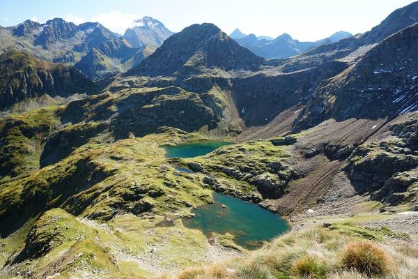 Blick von der Grobfeldspitze über das Buckelkar
