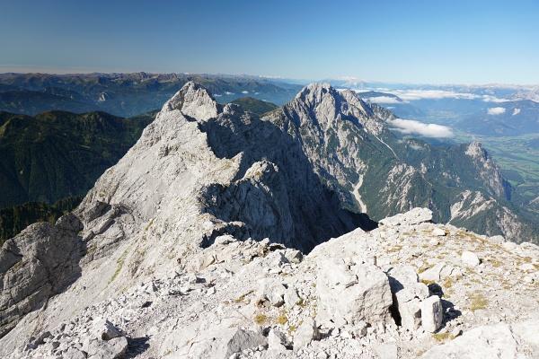 Ausblick vom Hochtor über Festkogel und Ödstein