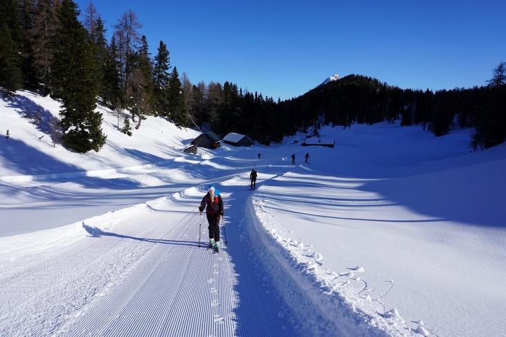 Präparierte Winterwanderwege