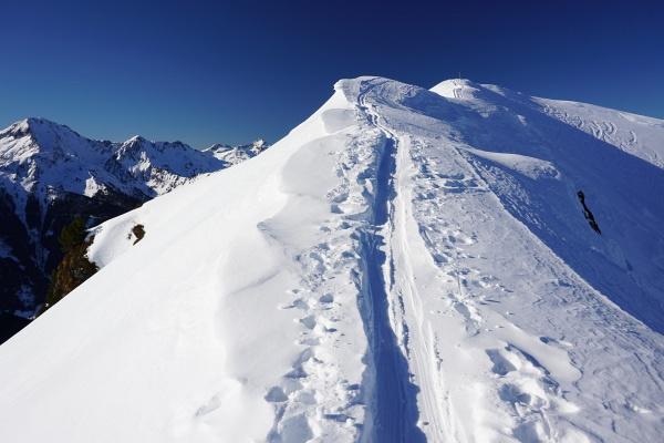 Am Übergang zwischen den beiden Gipfelkreuzen vom Großen Bärneck zum Vorgipfel