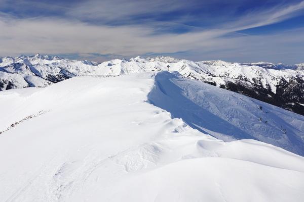 Am Hühnereck-Plateau zum Gipfelkreuz