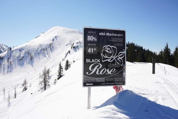 Vom Skigebiet mit den 4 schwarzen Pisten auf die Gasselhöhe.