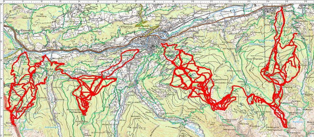 Die Karte meiner Corona-Spaziergänge widme ich dem Herrn Sobotka, der ja gerne alle Österreicher verpflichtend über Handy-App ausspionieren würde. Da ich aber nicht im Besitz eines Smartphones bin, müssen sie mit meinen GPS-Tracks Vorlieb nehmen.