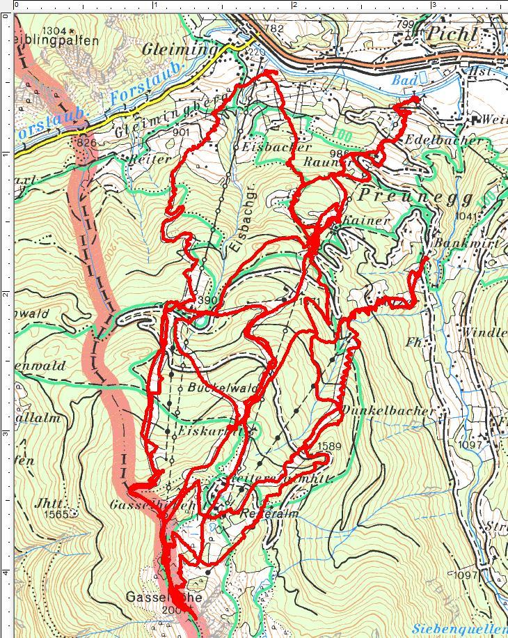 3 Spaziergänge führten uns über die Reiteralm auf die Gasselhöhe (3.895 Höhenmeter, 44 Kilometer)