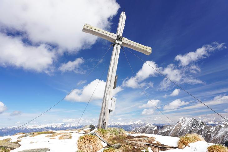 Gipfelkreuz auf der Schoberspitze
